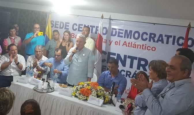 En Barranquilla Uribe anunció que solicitará a la Corte Constitucional no aprobar abusivo Fast Track