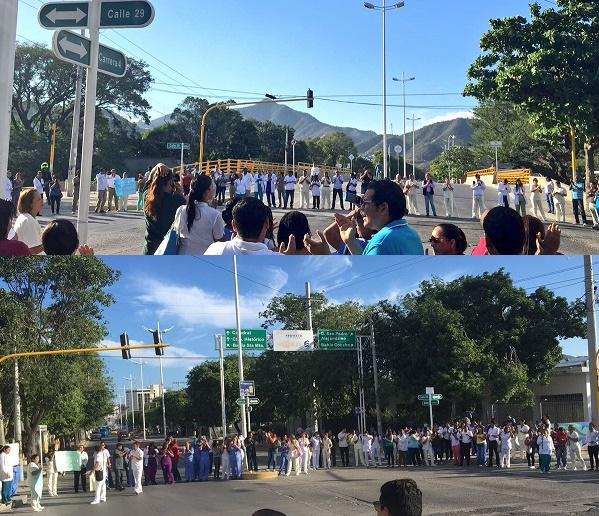 Protesta de los empleados de la Clínica Cardiovascular en Santa Marta, logró prorrogar el cierre
