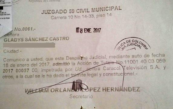 Admiten tutela contra Caracol TV, para que difunda la noticia del referendo para revocar a Santos