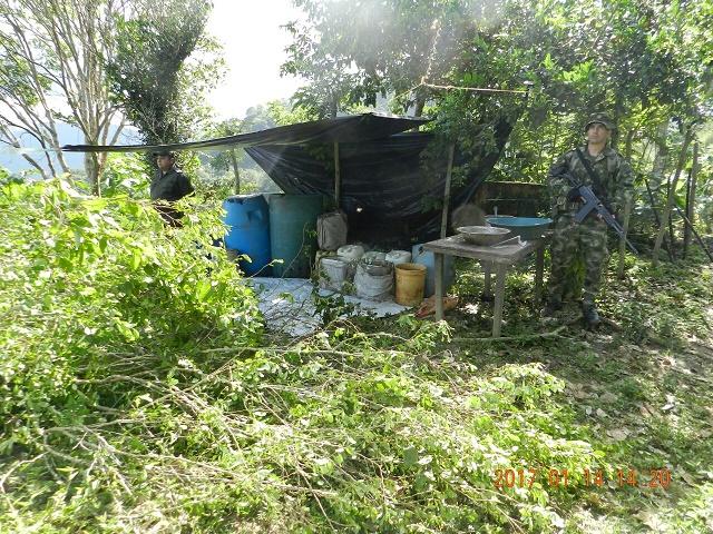 El Ejército y la Policía golpean al narcotráfico en el Magdalena