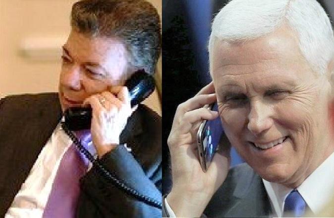 Solo de una llamada protocolaria de Pence a Santos, dice la Casa Blanca, y sin compromiso con Santos