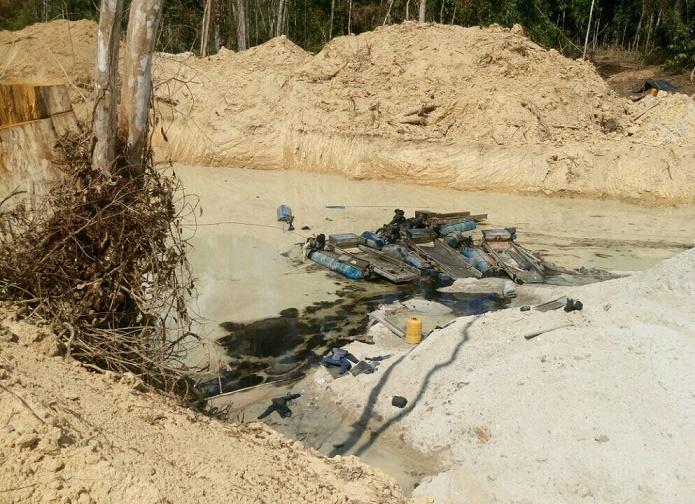 Contundente golpe contra la minería ilegal en sur de Bolívar y Antioquia, 4 capturados