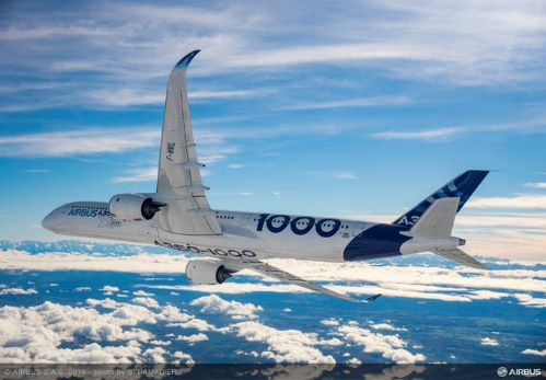 El gigante avión Airbus a350-1000 realizará vuelo de prueba en el Cortissoz