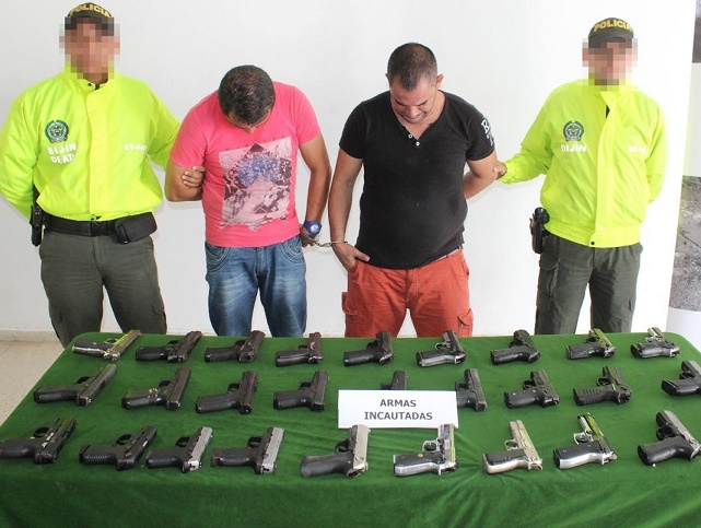 En segunda fase del Grupo Élite Dijin contra el crimen organizado captura a 2 e incauta 28 armas