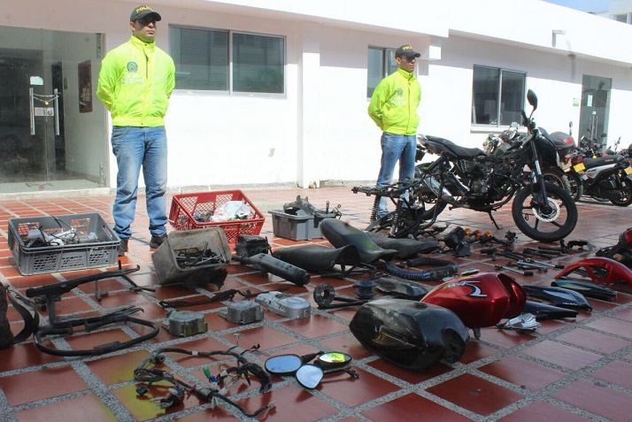 Policía desarticula una banda dedicada de receptación de autopartes en Barranquilla
