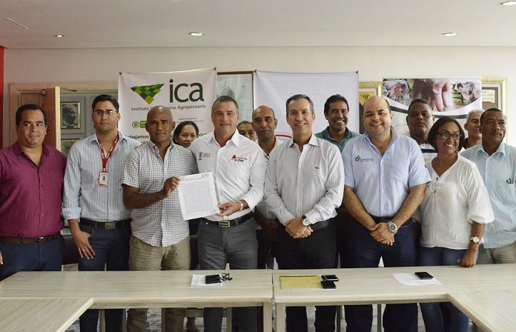 En el Atlántico ICA, Asoganorte y el Departamento firman convenio para erradicar la brucelosis y tuberculosis en ganado