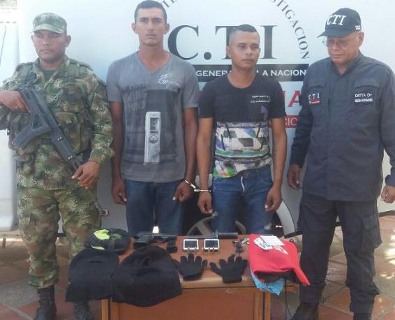 Décima Brigada Blindada, capturó a 3 por atraco y extorsión en Maicao y en El Copey, Cesar
