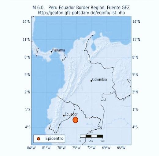 Fuerte temblor de magnitud 6.1 sacude a Perú, Ecuador y Colombia