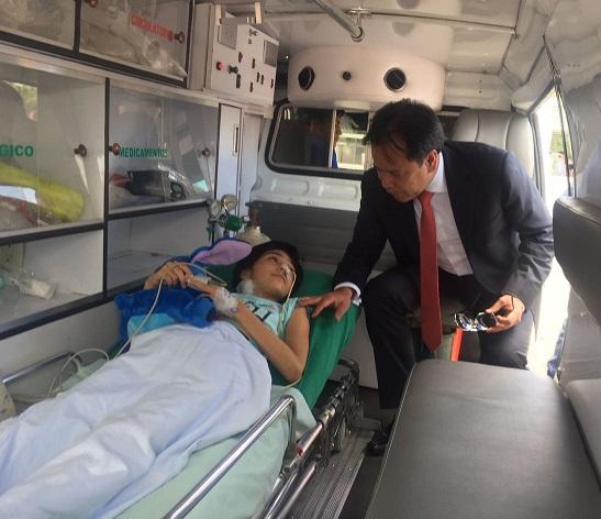 Trasladada desde Cúcuta, llegó la tarde de este martes a Bogotá, Deisy Alejandra Barrientos