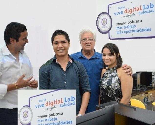 Soledad pionero en tecnologías, dijo Ministro David Luna. El municipio cuenta con 9 Zonas WiFi Gratis