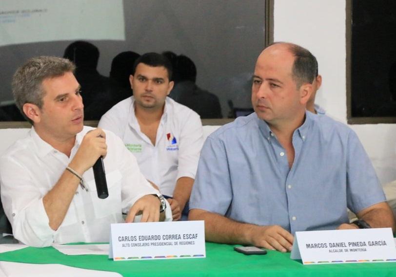 Son 2 Capturados: El Consejero Presidencial de Santos, Carlos Correa, el Alcalde de Montería, Carlos Daniel Pineda. Implicados Alejandro Lyons y Martha Sáenz