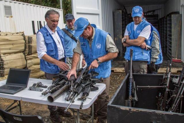 Muchas dudas dejó la entrega de armas que según la ONU, hizo las Farc este martes en La Elvira