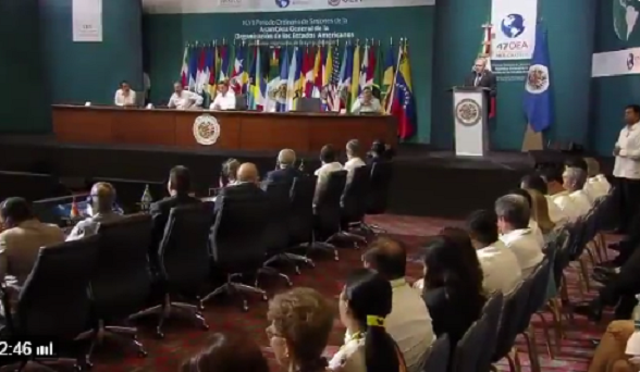 En primer día de la Asamblea Número 47 de la OEA, primera discusión la crisis de Venezuela, continúa hoy