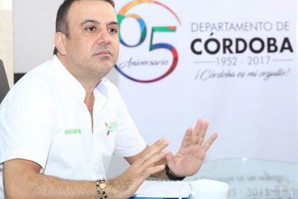Suspenden provisionalmente al gobernador de Córdoba, Edwin Besaile