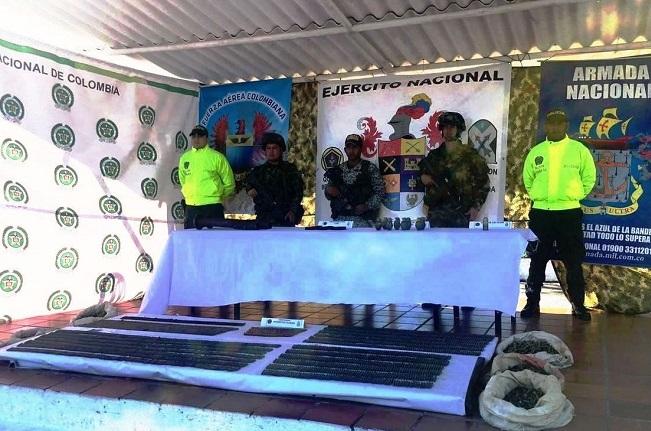 Ejército encuentra material de guerra en zona rural de San Pablo, sur de Bolívar