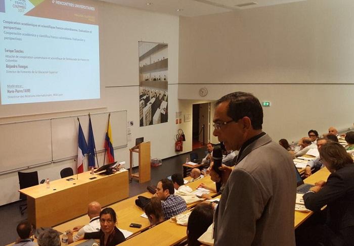 Rector de Unisimón, en encuentro de universidades de Colombia y Francia