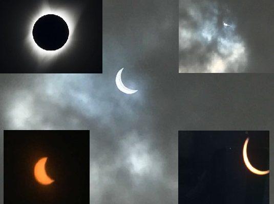 El Eclipse de Sol, visto en muchos lugares, trajo una tarde diferente
