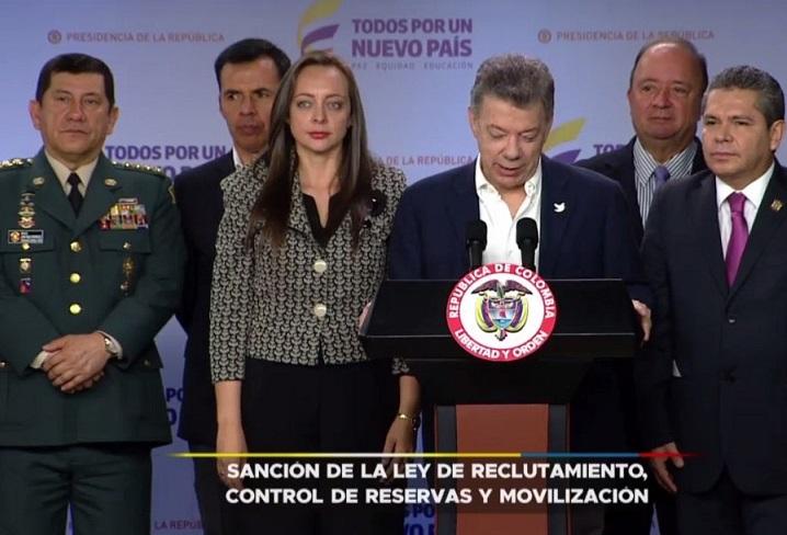 Ley de Reclutamiento que crea beneficios, estímulos y prerrogativas que Santos sancionó es iniciativa de MIRA
