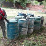 El Batallón Fluvial de Infantería de Marina, incautó 515 galones de Acpm usado para elaborar pasta base de coca