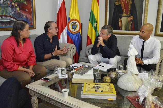 Gobernador Verano y embajador de Francia acuerdan convenio marco para el Atlántico