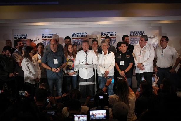 La MUD, no reconoce los resultados y pide calle. Cinismo sin límites de Maduro.