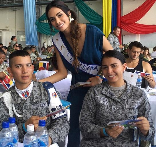 La Virreina Nacional Vanessa Pulgarin y la Señorita Atlántico, Martha Martinez, visitaron Tolemaida y Leticia con el Correo de la Gratitud