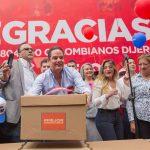 Este lunes Vargas Lleras presentó 5'804.500 firmas para avalar su candidatura presidencial
