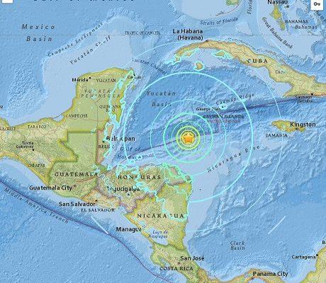 Terremoto de 7.6 con origen en al mar, estremece a Honduras, y mantiene en alerta a países Centroamericanos e islas del Caribe