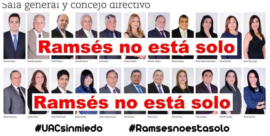 Los quieren todos afuera, afirman que Ramsés Vargas no actúa solo, se apoya en la Sala General y el Concejo Directivo