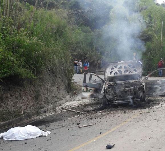 Dos uniformados de la Policía fueron asesinados en emboscada terrorista contra una patrulla en Caldono, entre Cauca y Popayán