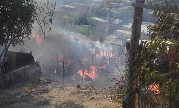 7 Casas consumidas por el fuego en Puerto Colombia, 18 personas en la calle