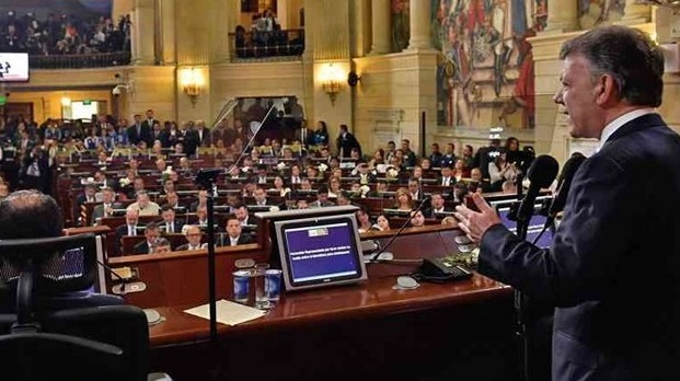 Santos solicitó al Congreso agilizar trámite de proyectos de ley para la implementación del Acuerdo con las Farc