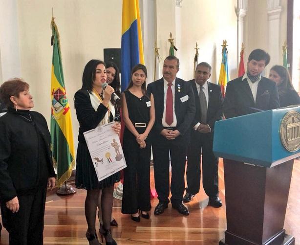 Senadora Sofía Gaviria, Canciller de Paz Mundial, recibió dos nuevos reconocimientos internacionales más por su labor humanitaria