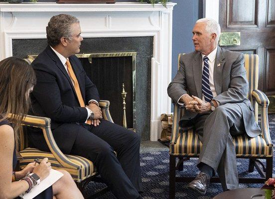 Con la reunión con el Vicepresidente Mike Pence, concluyó la agenda de Duque en los EEUU, encuentro que consideró importante y productivo