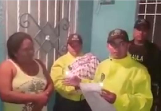 Gaula de la Policía rescató bebé raptada en Salgar, y capturó a la mujer presunta culpable por el delito de secuestro