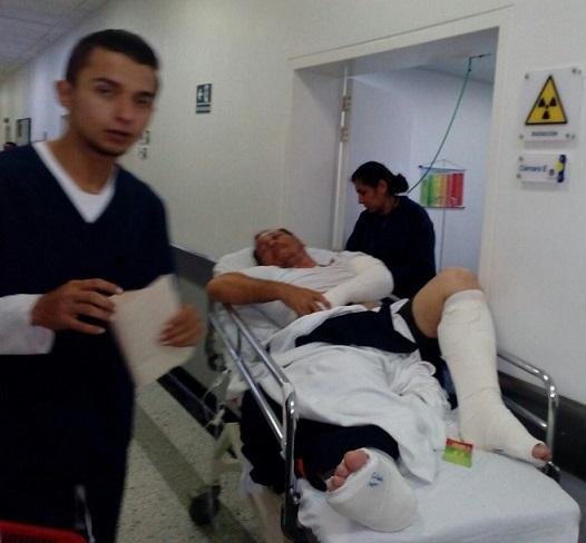 Periodista barranquillero Óscar Rosales sufrió una caída del segundo piso del Capitolio este 20 de Julio. Su estado es estable