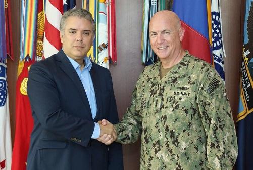 Duque se reunió con el Comando Sur de Estados Unidos con miras a fortalecer la cooperación en materia de seguridad