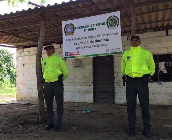 Autoridades materializan Extinción de Dominio a tres bienes en el municipio de Juan de Acosta, Atlántico