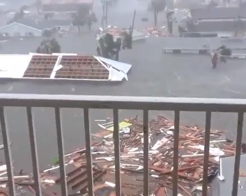 Huracán Michael tocó tierra con categoría 4 en Panamá City, La Florida donde causa enormes destrozos