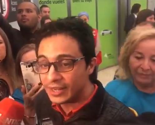 Lorent Saleth con libertad a medias, desterrado a disposición del gobierno de España dijo que en Venezuela el pueblo está secuestrado por el régimen de Maduro