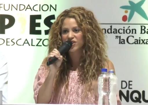 Shakira hizo un llamado al Gobierno Nacional por el abandono y la falta de escuela para la infancia