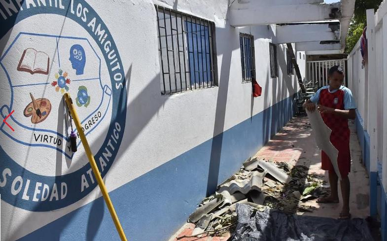 El vendaval en El Sinaí, dejó 200 damnificadas y 317 niños fuera del colegio