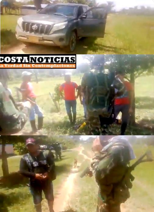 A disidentes de las Farc, adjudican el despo a protegida y sus escoltas de dos camionetas blindadas, 5 pistolas y 6 chalecos antibalas, en Tame Arauca