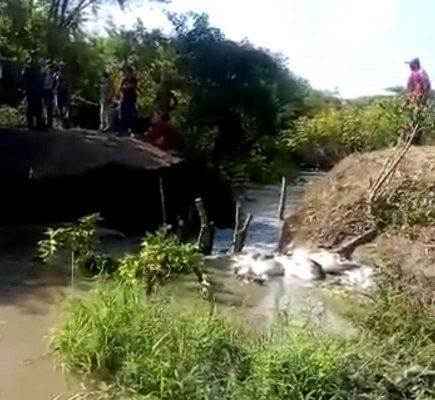 Llamado urgente hacen habitantes de Calamar por rompimiento del Canal del Dique a la altura de Caño de Mula