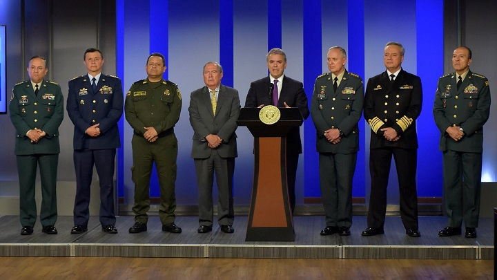 Colombia amanece con nueva cúpula de las Fuerzas Militares y Policía. Este martes será la transmisión de mando