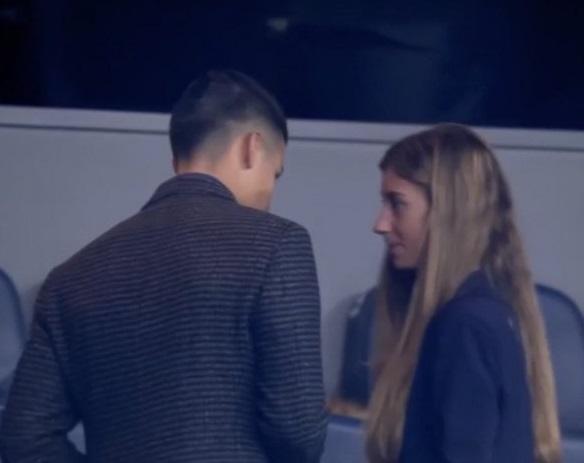 James Rodríguez acompañado de Shannon de Lima en el Bernabéu en partido River Plate vs Boca Juniors sería la confirmación de una relación sentimental