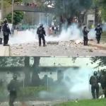 Varios heridos, encapuchados, daños y pánico saldo de las violentas protestas de un reducido número de manifestantes este jueves en Bogotá y Popayán