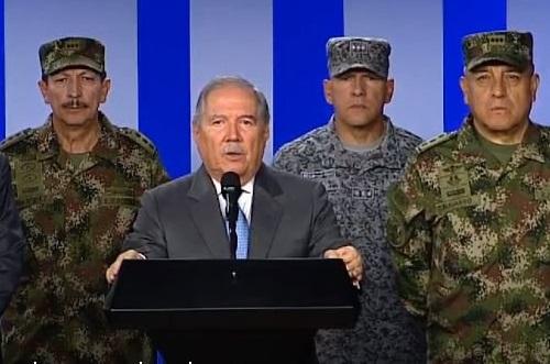 Ministro de Defensa atribuyó al ELN el atentado terrorista contra la Escuela General Santander