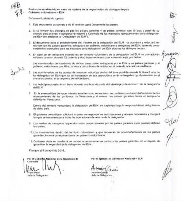 El protocolo secreto con el ELN: Por Rafael Nieto Loaiza