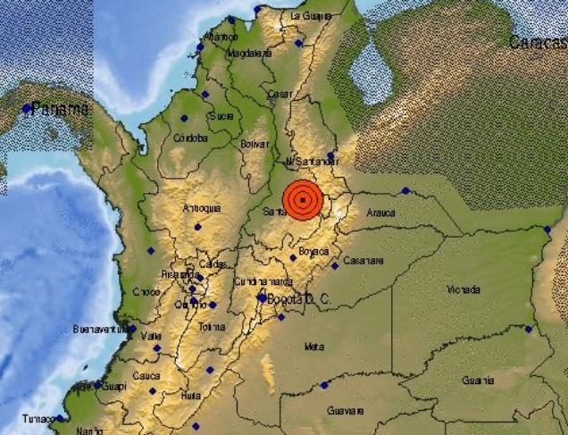 Autoridades verifican presuntos daños de sismo de 5.4 con origen en Zapatoca, Santander
